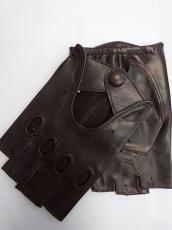 Férfi csonka ujjú autóskesztyű barna 10000 modell nappa bőr