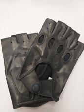 Férfi csonka ujjú autóskesztyű szürke 10000 modell nappa bőr