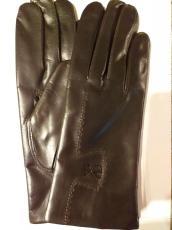 Női kesztyű sötét barna, 12880 modell, 100% gyapjú bélelt
