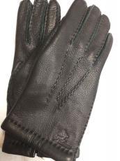 Női kesztyű szarvas bőr, fekete 6000 modell, kézzel varrott 100% gyapjú bélelt
