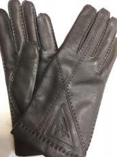 Női kesztyű szarvas bőr, 27435 modell fekete, 100% kasmir bélelt