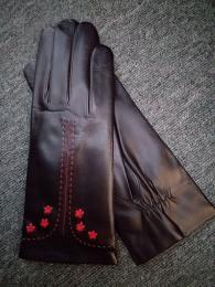 Női nappa fekete-piros cashmere bélelt 1717 modell