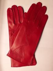 Női nappa piros 60244 modell béleletlen